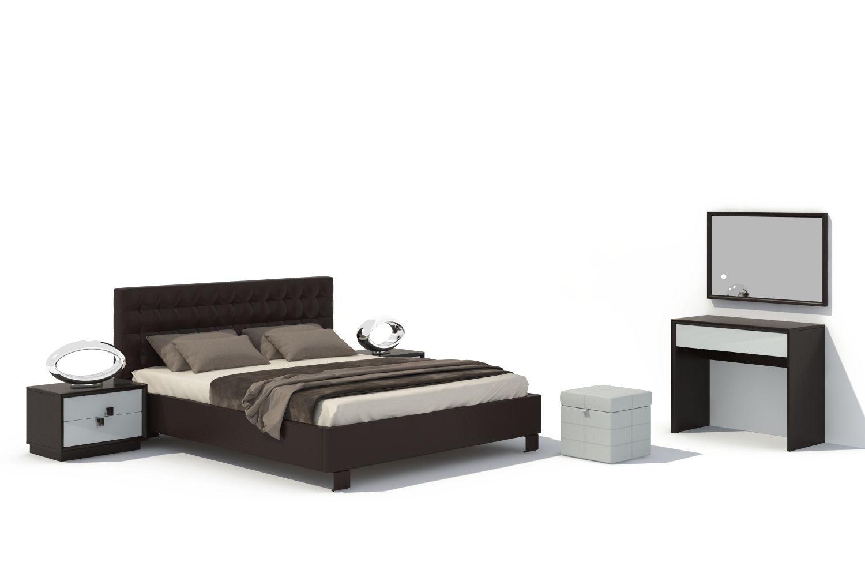 Спальня Брио 15 АнгстремБрио<br><br><br>Артикул: None<br>Высота: 1000<br>Ширина: 1800<br>Глубина: 2210
