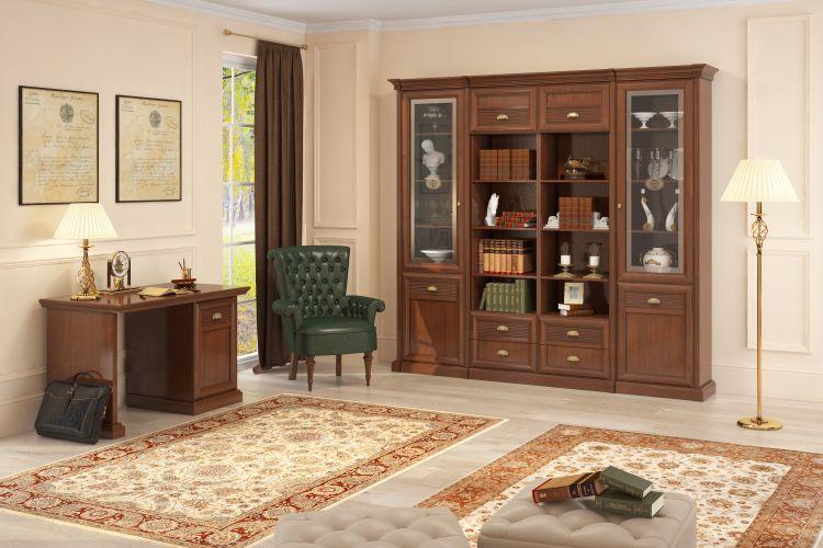 Купить Библиотека Изотта 1 в интернет магазине корпусной и мягкой мебели для дома