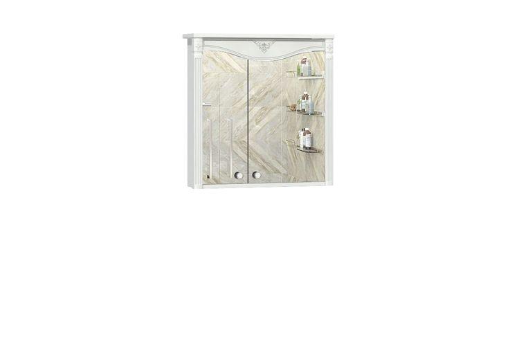 Купить Шкаф навесной с зеркалом Юнис в интернет магазине корпусной и мягкой мебели для дома