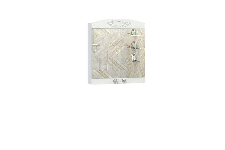 Купить Шкаф навесной с зеркалом Авелин 600.11 в интернет магазине корпусной и мягкой мебели для дома