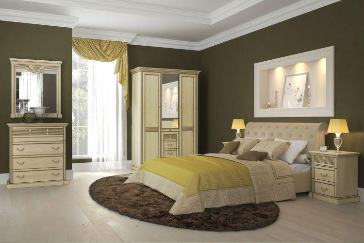 Спальня Изотта 3.1 АнгстремИзотта<br><br><br>Артикул: None<br>Высота: 2268<br>Ширина: 1543<br>Глубина: 661
