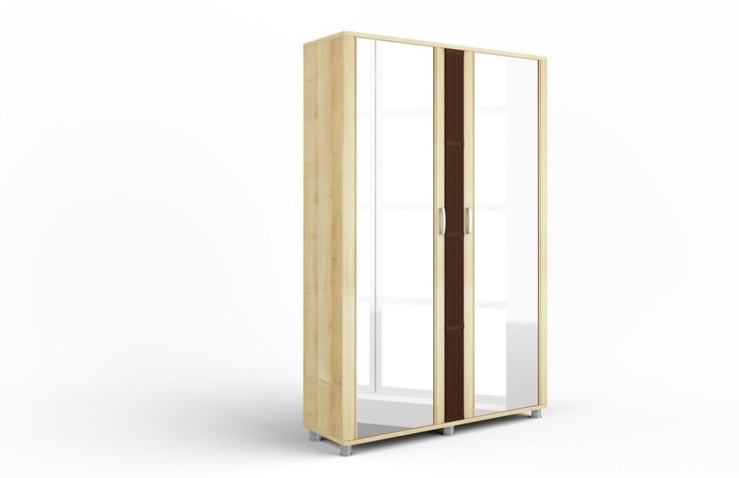 Шкаф с зеркальными фасадами Эстетика 1 АнгстремШкафы<br><br><br>Артикул: 960.012.04<br>Высота: 2024<br>Ширина: 1310<br>Глубина: 432