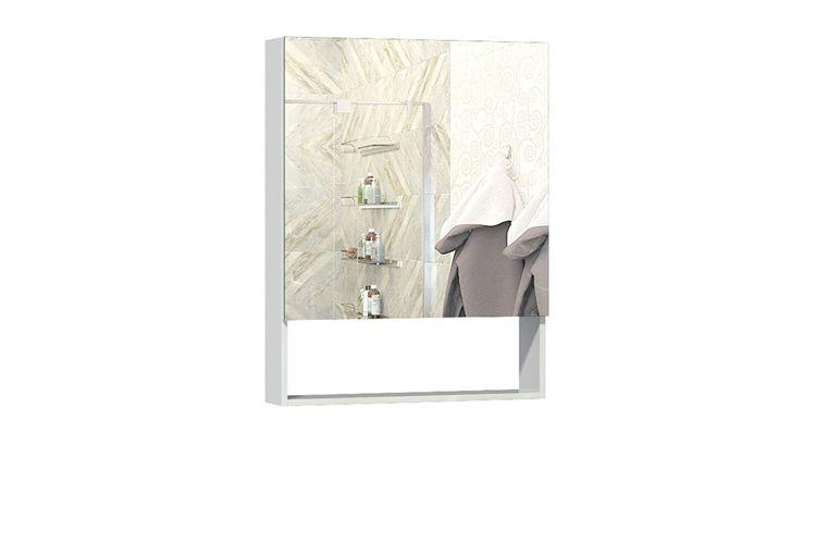 Шкаф навесной с зеркалом Фьюжен 600.11 АнгстремФьюжен<br><br><br>Артикул: F00.006.00<br>Высота: 900<br>Ширина: 600<br>Глубина: 160