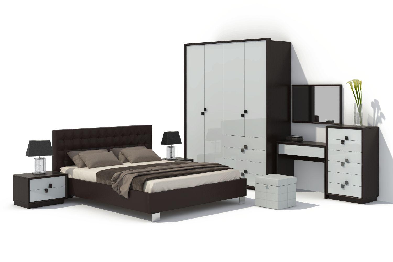 Спальня Брио 12 АнгстремБрио<br><br><br>Артикул: None<br>Высота: 2366<br>Ширина: 1862<br>Глубина: 631