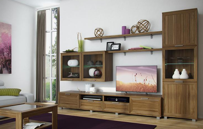 Купить Гостиная Бона 4 в интернет магазине корпусной и мягкой мебели для дома