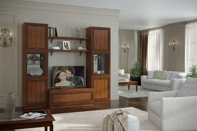 Купить Комплект № 1 Гостиная Адажио в интернет магазине корпусной и мягкой мебели для дома