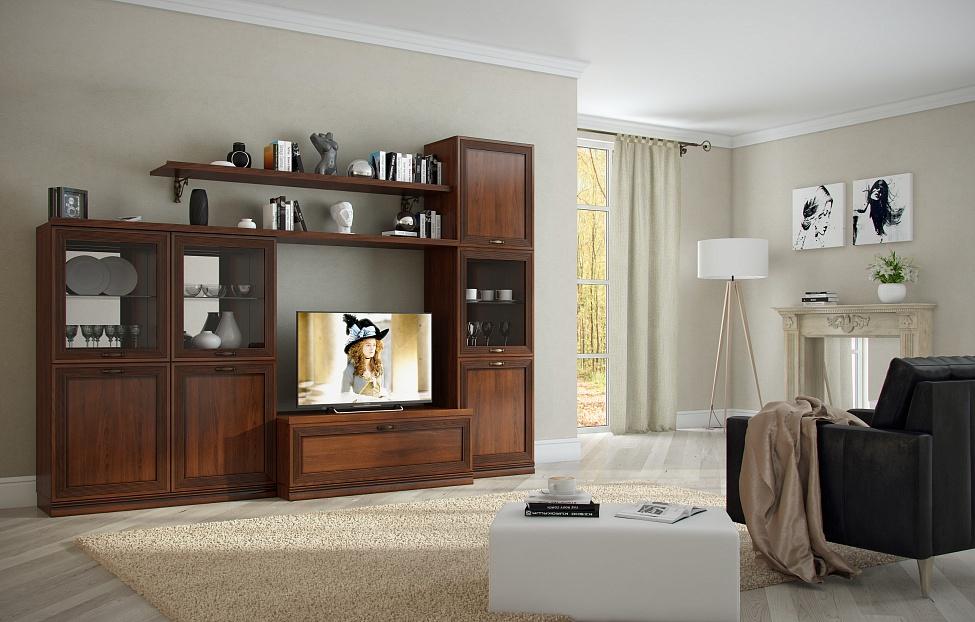 Купить Гостиная Адажио 2.1 в интернет магазине корпусной и мягкой мебели для дома
