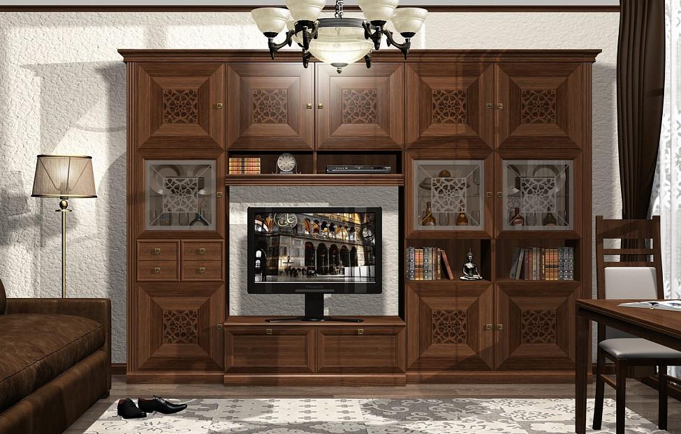 Купить Гостиная Бенуа 3 в интернет магазине корпусной и мягкой мебели для дома