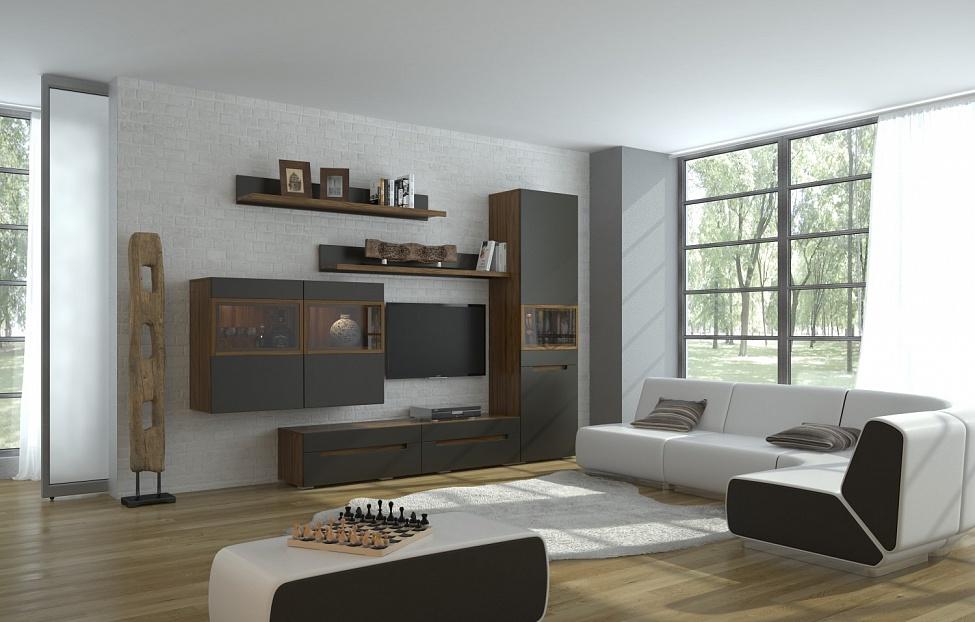 Купить Гостиная Анри 1.2 в интернет магазине корпусной и мягкой мебели для дома