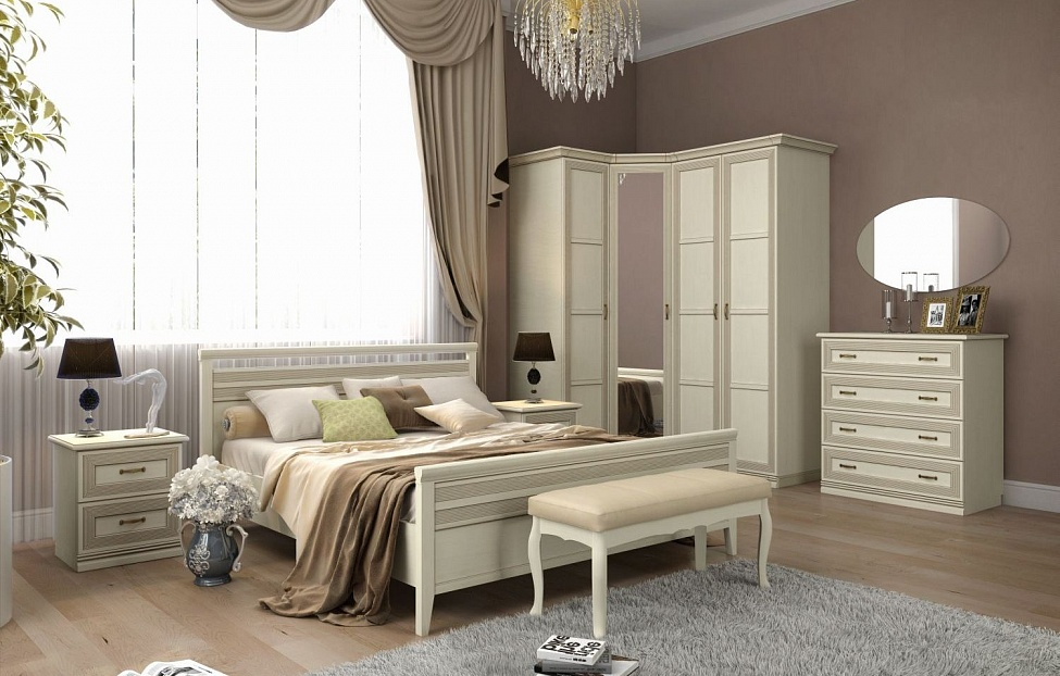 Купить Спальня Адажио 2.2 в интернет магазине корпусной и мягкой мебели для дома