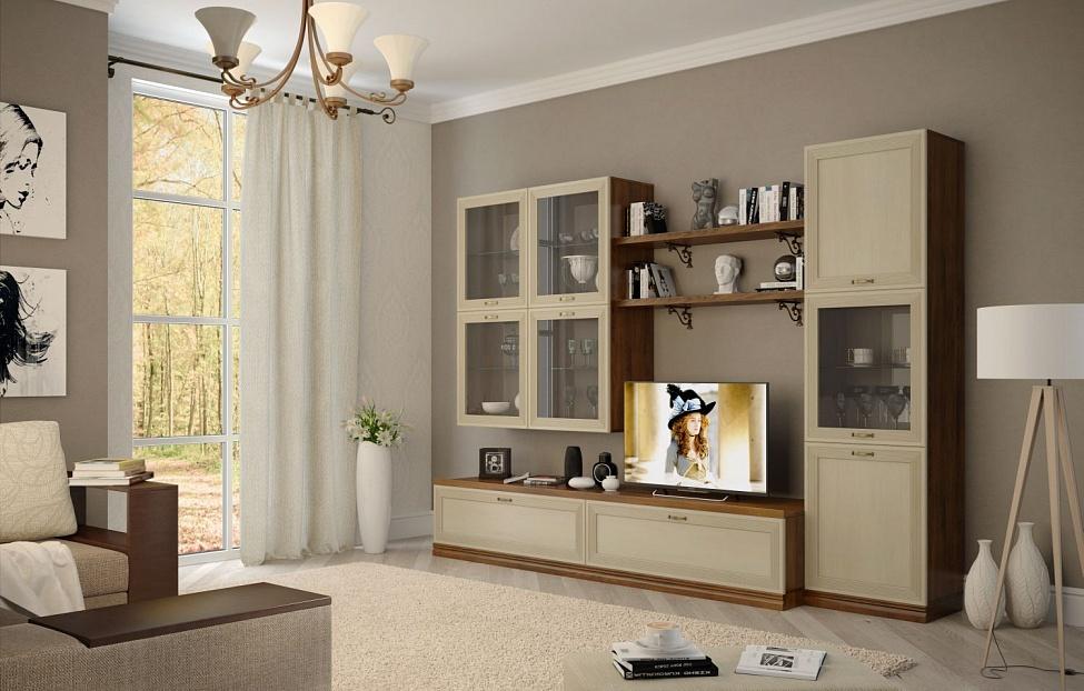 Купить Гостиная Адажио 3.4 в интернет магазине корпусной и мягкой мебели для дома
