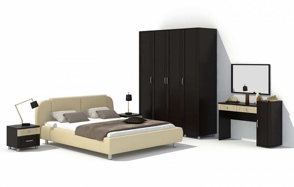 Купить Спальня Эстетика 8.1 в интернет магазине корпусной и мягкой мебели для дома