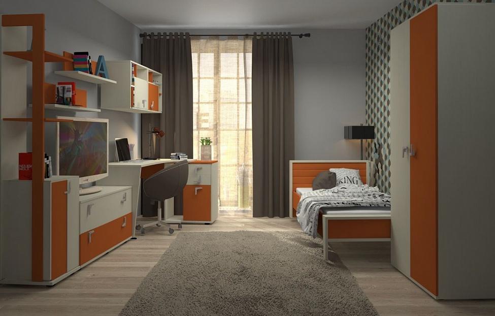 Купить Молодежная Фиджи 1.1 в интернет магазине корпусной и мягкой мебели для дома