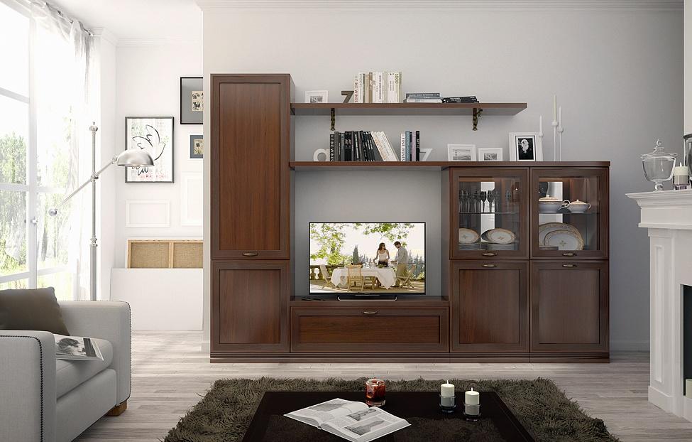 Купить Гостиная Адажио 6.3 в интернет магазине корпусной и мягкой мебели для дома