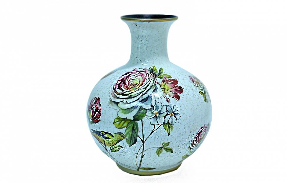 Купить Ваза&quot-Мейсенская роза&quot- в интернет магазине корпусной и мягкой мебели для дома