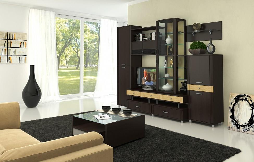 Купить Гостиная Эстетика 4.1 в интернет магазине корпусной и мягкой мебели для дома