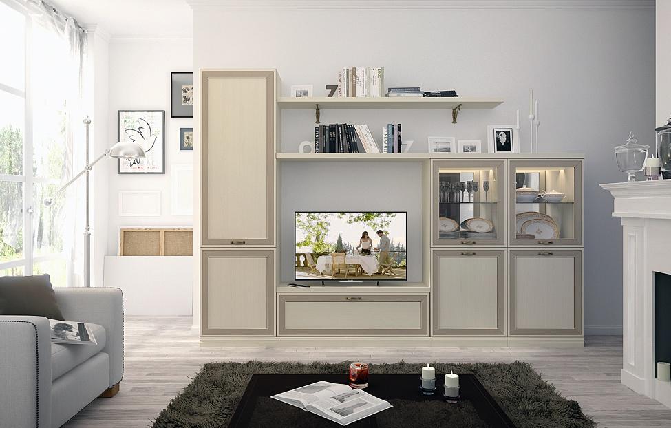 Купить Гостиная Адажио 6.1 в интернет магазине корпусной и мягкой мебели для дома