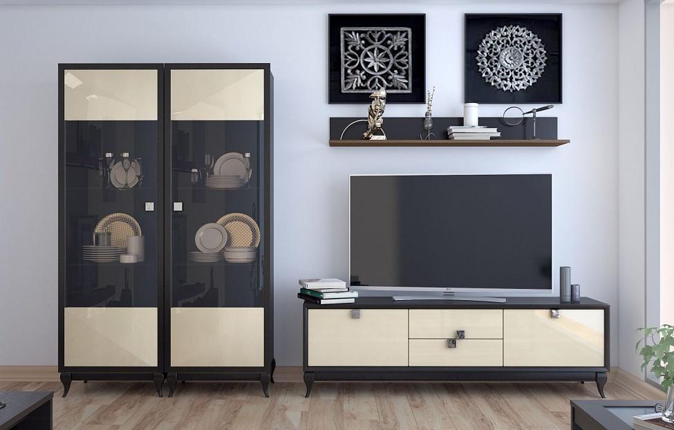 Купить Гостиная Брио 5 в интернет магазине корпусной и мягкой мебели для дома