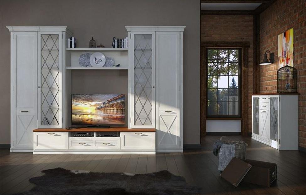 Купить Гостиная Кантри 1 в интернет магазине корпусной и мягкой мебели для дома