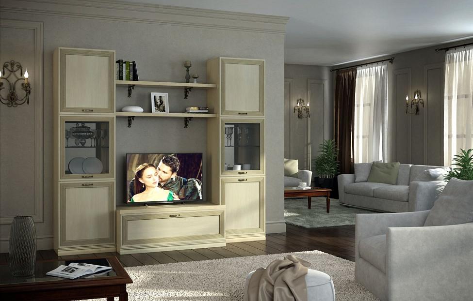 Купить Гостиная Адажио 5.3 в интернет магазине корпусной и мягкой мебели для дома
