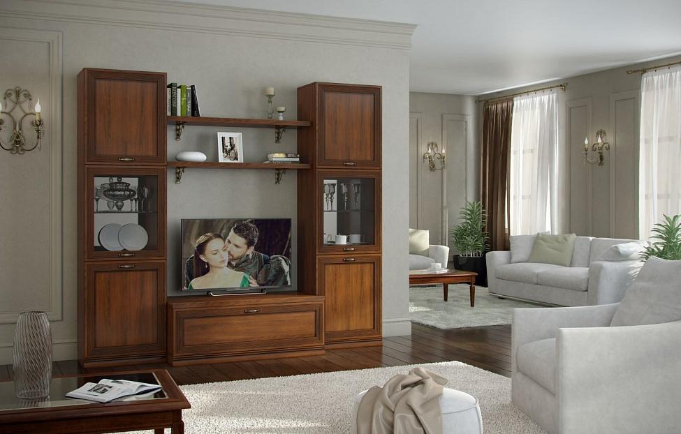 Купить Гостиная Адажио 5.1 в интернет магазине корпусной и мягкой мебели для дома