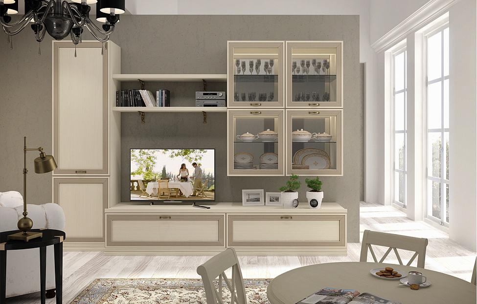 Купить Гостиная Адажио 7.1 в интернет магазине корпусной и мягкой мебели для дома