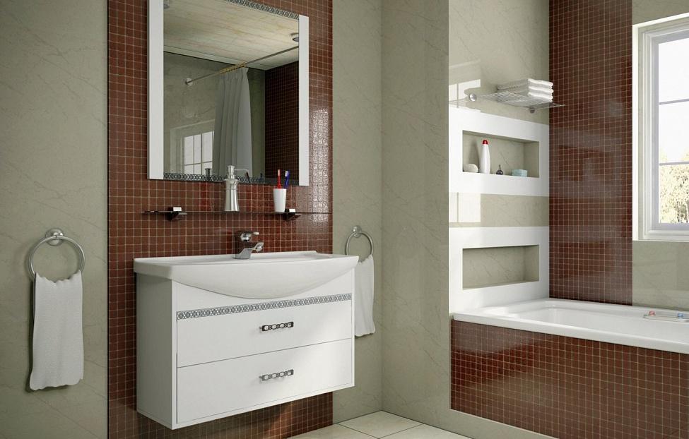 Купить Мебель для ванной комнаты Санрайс 2 в интернет магазине корпусной и мягкой мебели для дома