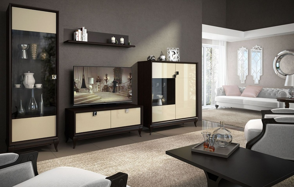 Купить Гостиная Брио 1 в интернет магазине корпусной и мягкой мебели для дома