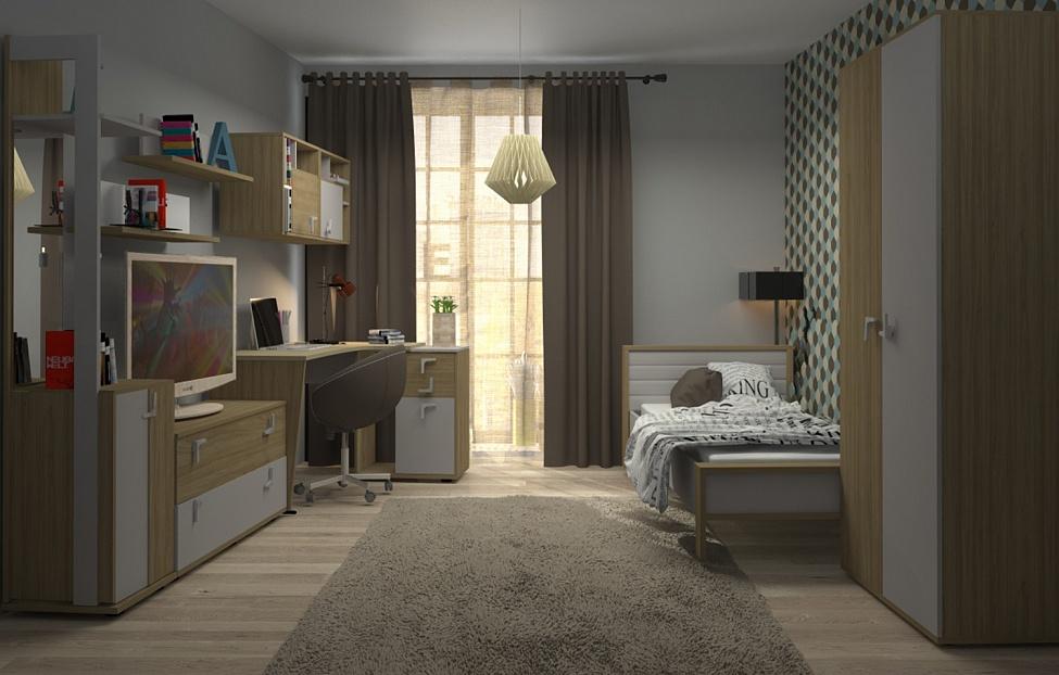 Купить Молодежная Фиджи 1.2 в интернет магазине корпусной и мягкой мебели для дома