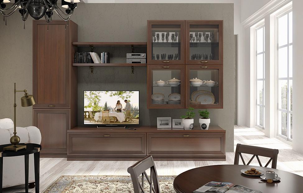 Купить Гостиная Адажио 7.3 в интернет магазине корпусной и мягкой мебели для дома