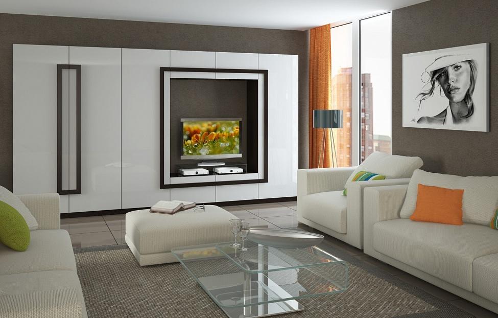Купить Гостиная Глейс 4 в интернет магазине корпусной и мягкой мебели для дома
