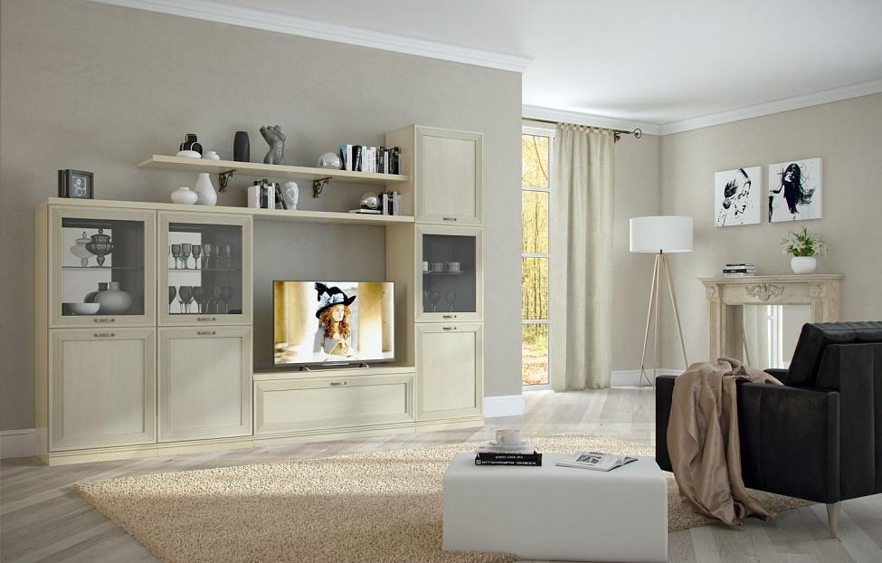 Купить Гостиная Адажио 9 в интернет магазине корпусной и мягкой мебели для дома