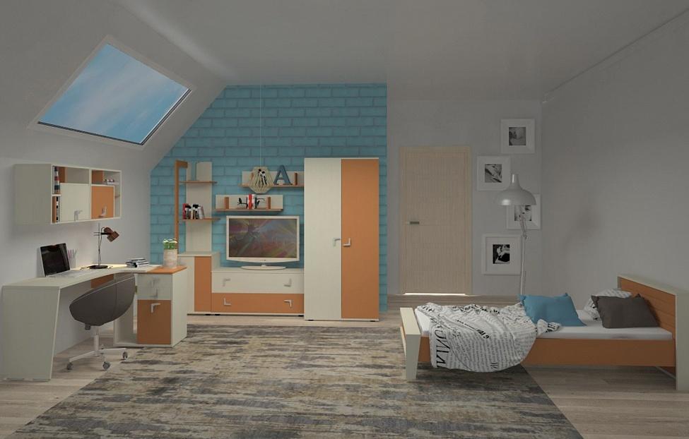 Купить Молодежная Фиджи 2.1 в интернет магазине корпусной и мягкой мебели для дома