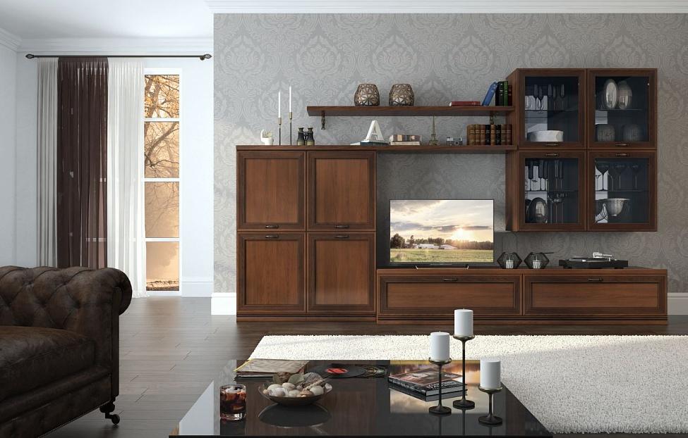 Купить Гостиная Адажио 1.1 в интернет магазине корпусной и мягкой мебели для дома