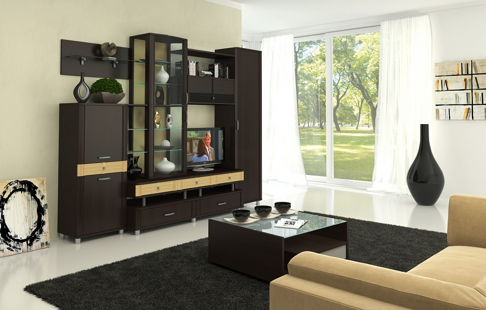 Купить Гостиная Эстетика 1.2 в интернет магазине корпусной и мягкой мебели для дома