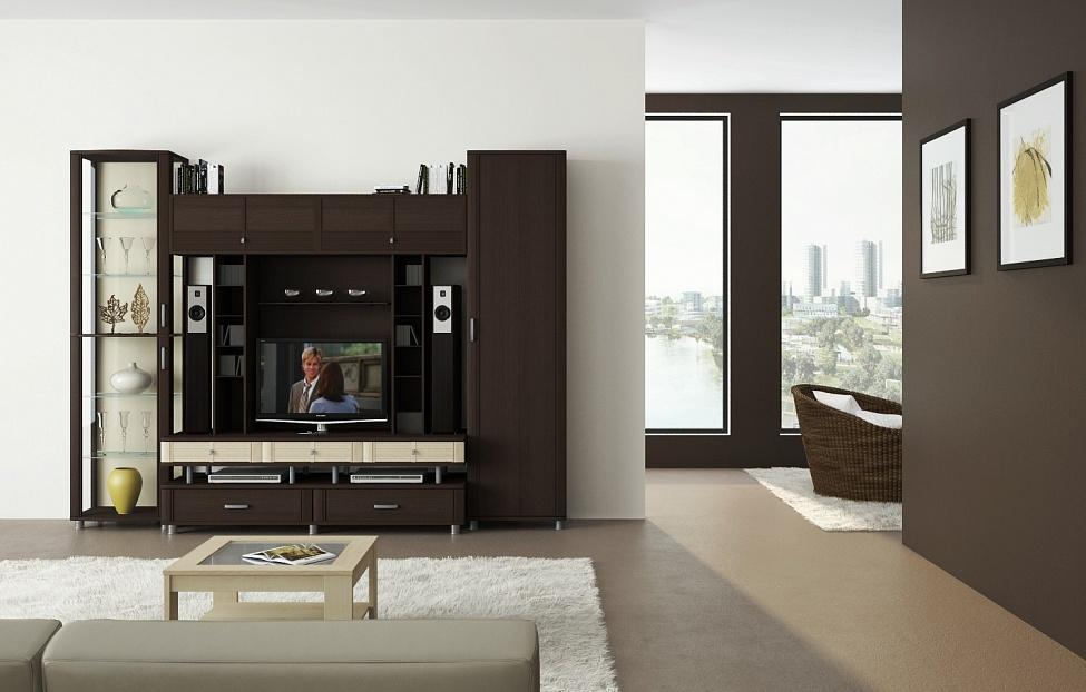 Купить Гостиная Эстетика 2.1 в интернет магазине корпусной и мягкой мебели для дома