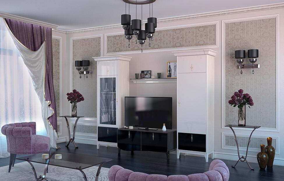Купить Гостиная Dec'-O 3 в интернет магазине корпусной и мягкой мебели для дома